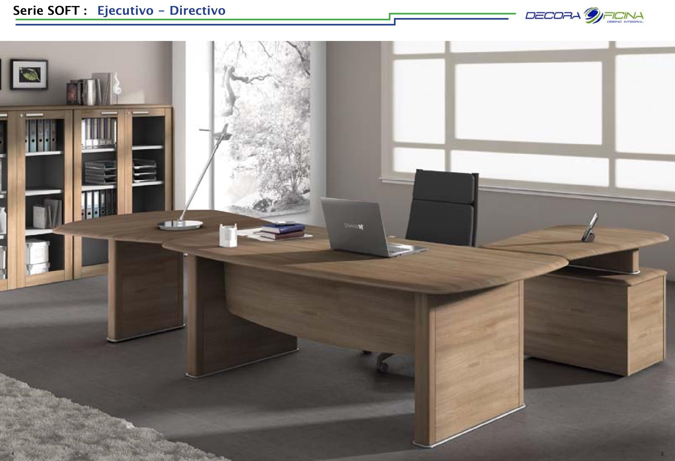 Muebles de despacho serie soft decoraoficina for Muebles para despacho