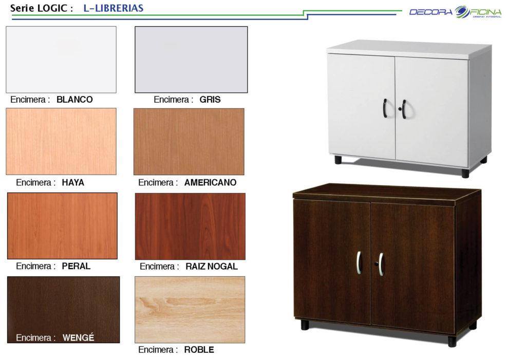 Muebles de oficina serie logic l librerias decoraoficina for Muebles de oficina ocasion