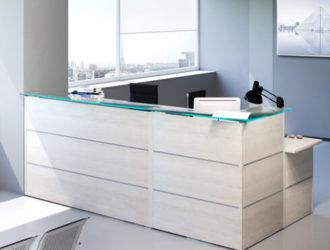 Muebles de recepci n muebles de recepci n econ micos - Mostradores para oficinas ...