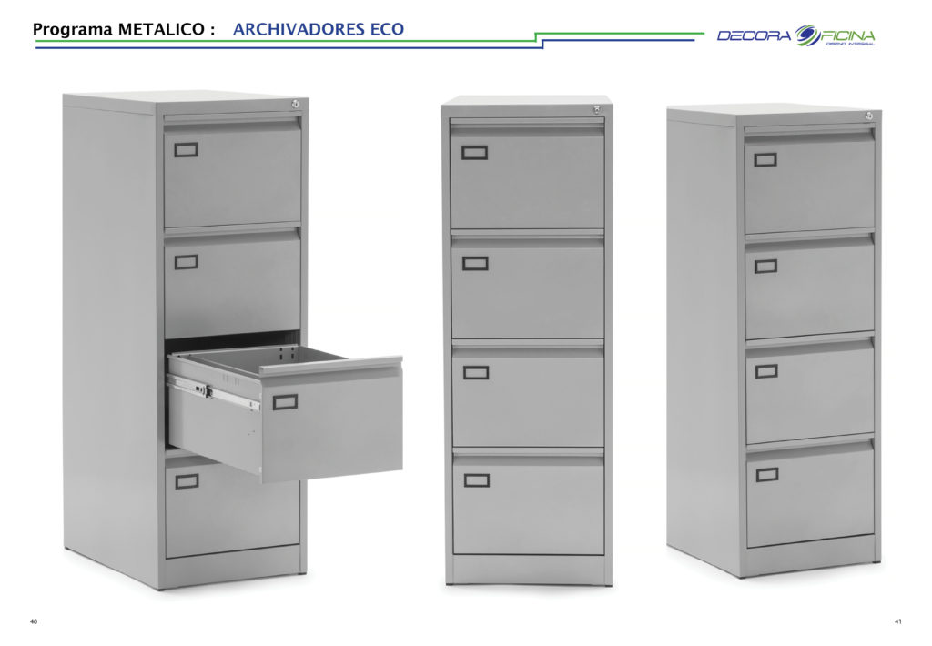 archivador Eco gris
