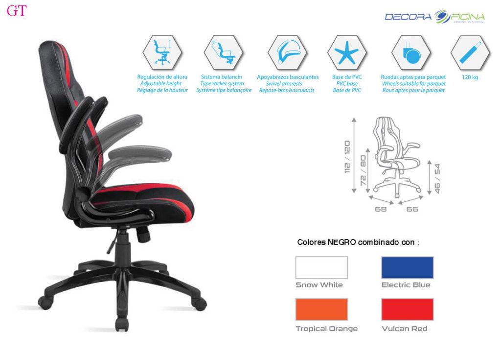 Silla Gamer GT colores