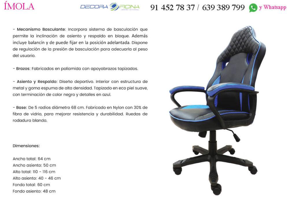 Ficha tecnica silla Imola