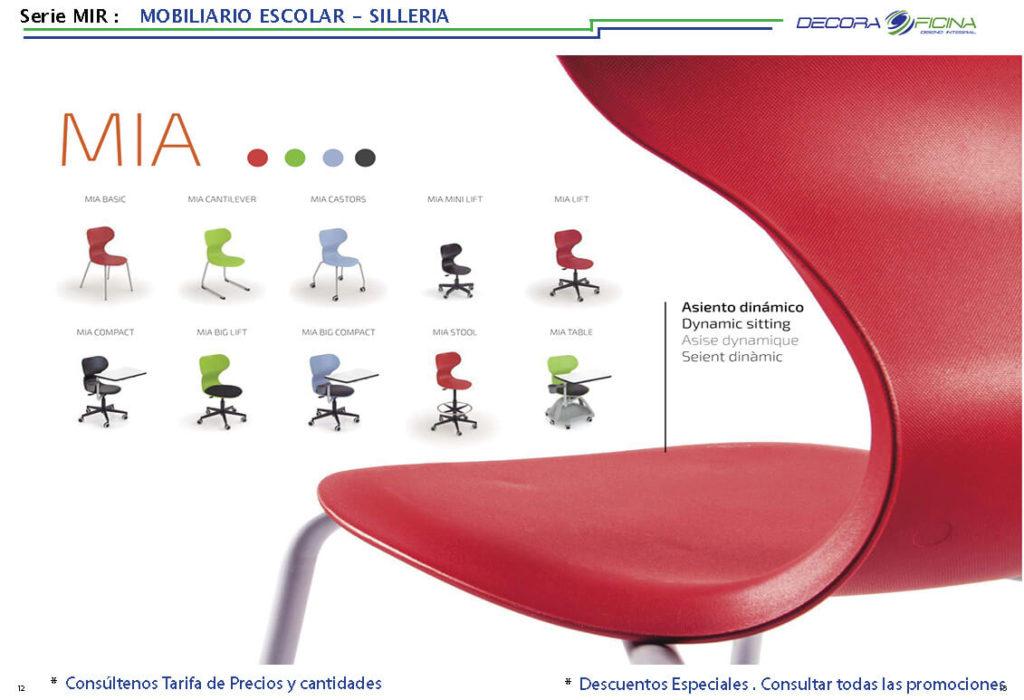 silla escolar mir 03