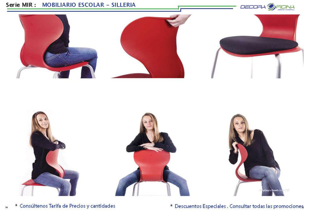 silla escolar mir 04