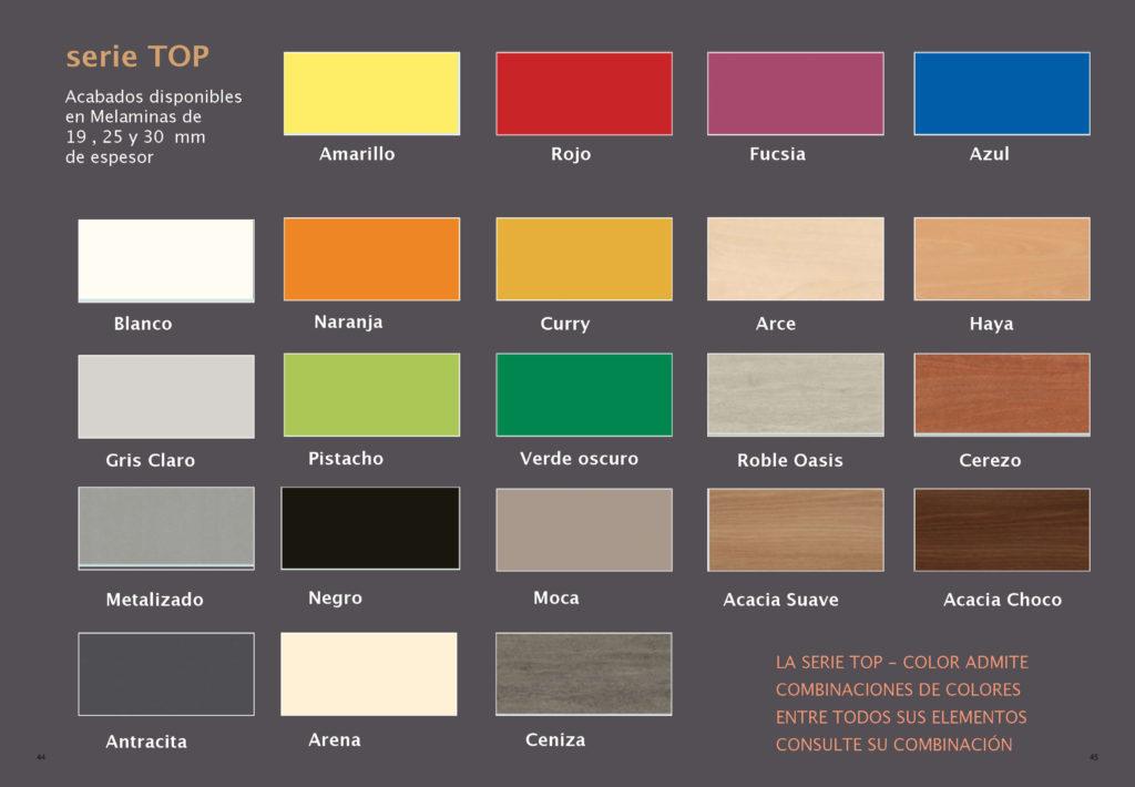 Muestrario Colores Top