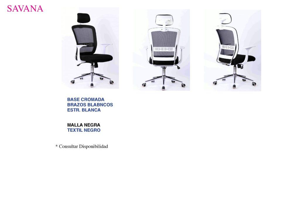 acabados sillon Savana