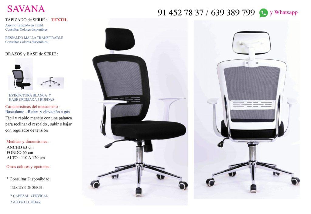 sillon de oficina Savana 01